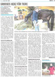 Zeitungsartikel Regio Dürnten vom 03. Januar 2020